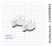 isometric outline 3d text.... | Shutterstock .eps vector #1146900842
