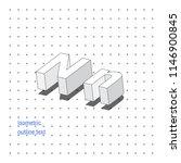 isometric outline 3d text.... | Shutterstock .eps vector #1146900845