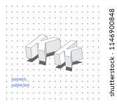 isometric outline 3d text.... | Shutterstock .eps vector #1146900848