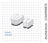 isometric outline 3d text.... | Shutterstock .eps vector #1146900872