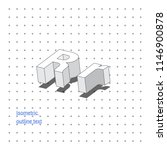 isometric outline 3d text.... | Shutterstock .eps vector #1146900878