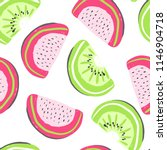 watermelon and kiwi exotic... | Shutterstock .eps vector #1146904718