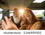 portrait of an senior hipster... | Shutterstock . vector #1146909302