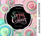 spring sale banner with paper... | Shutterstock . vector #1146909398