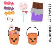 jack o lantern candy pumpkin set | Shutterstock .eps vector #1146909935