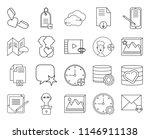 set of 20 icons such as mail ...
