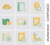 set of 9 simple editable icons... | Shutterstock .eps vector #1146916622