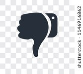 dislike vector icon isolated on ... | Shutterstock .eps vector #1146916862