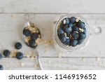 overnight oats with whole grain ... | Shutterstock . vector #1146919652
