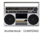 retro radio from the 80s | Shutterstock . vector #114692062