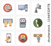 set of 9 simple editable icons...   Shutterstock .eps vector #1146920978