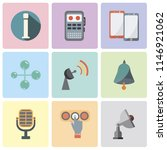 set of 9 simple editable icons...   Shutterstock .eps vector #1146921062