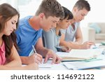 side view shot of students... | Shutterstock . vector #114692122