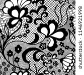 lace black seamless pattern... | Shutterstock .eps vector #1146921998