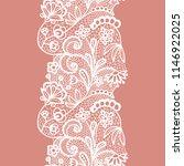 white lacy vintage elegant trim.... | Shutterstock .eps vector #1146922025