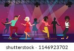 cartoon multi ethic people... | Shutterstock . vector #1146923702
