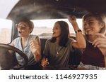group of girls having fun in... | Shutterstock . vector #1146927935
