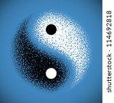 yin yang symbol. vector. | Shutterstock .eps vector #114692818