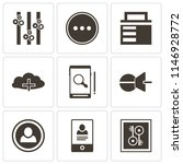 set of 9 simple editable icons... | Shutterstock .eps vector #1146928772