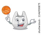 with basketball plastic bag... | Shutterstock .eps vector #1146930875