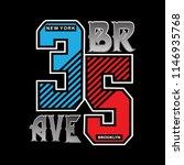 brave new york typography t... | Shutterstock .eps vector #1146935768