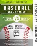 elegant green baseball poster ... | Shutterstock .eps vector #1146935798