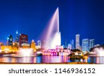 beautiful buckingham fountain...   Shutterstock . vector #1146936152