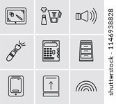 set of 9 simple editable icons...   Shutterstock .eps vector #1146938828