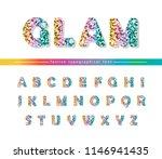 glitter confetti multicolored... | Shutterstock .eps vector #1146941435