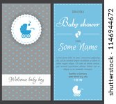 set of baby shower invitation... | Shutterstock .eps vector #1146944672