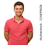 portrait of young man smiling... | Shutterstock . vector #114694636