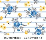 roses pattern bouquet roses on... | Shutterstock .eps vector #1146948545