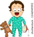 illustration of kid boy toddler ... | Shutterstock .eps vector #1146949592
