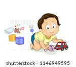 illustration of kid boy... | Shutterstock .eps vector #1146949595