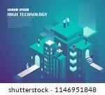 smart city technology. web... | Shutterstock .eps vector #1146951848