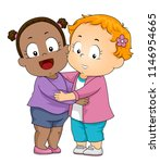 illustration of kids girl... | Shutterstock .eps vector #1146954665