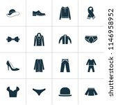 dress icons set with male... | Shutterstock .eps vector #1146958952