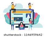 social media networking concept.... | Shutterstock .eps vector #1146959642