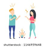 family conflict concept. young... | Shutterstock .eps vector #1146959648