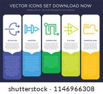 5 vector icons such as right...