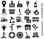 set of 25 icons such as trolley ...