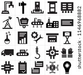 set of 25 icons such as light...
