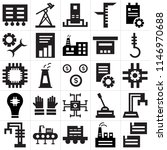 set of 25 icons such as boxes ...