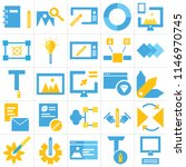 set of 25 icons such as laptop  ...