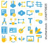 set of 25 icons such as paint...
