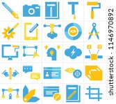 set of 25 icons such as crop ...