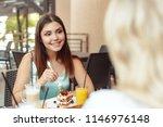 two beautiful young girls... | Shutterstock . vector #1146976148