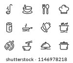 set of black vector icons ... | Shutterstock .eps vector #1146978218