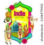 indian culture cartoon... | Shutterstock .eps vector #1146979442