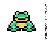 pixel art frog isolated on... | Shutterstock .eps vector #1146982025